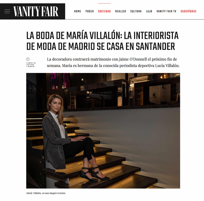 reportaje fotografico revista vanity fair jose anoro maria villalon